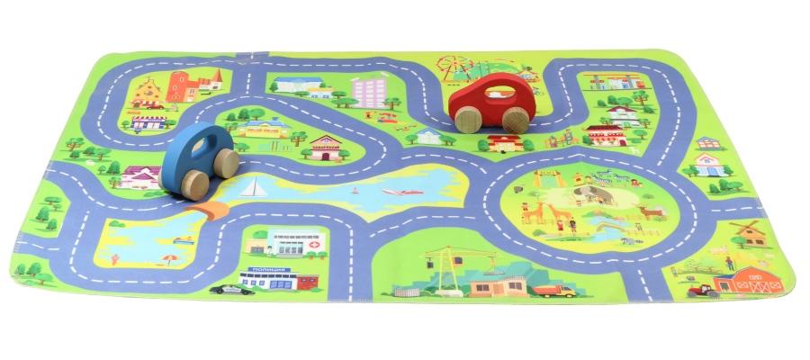 """Игрушка для детей """"Автодорога"""" (2 машинки, коврик 71х54 см ..."""