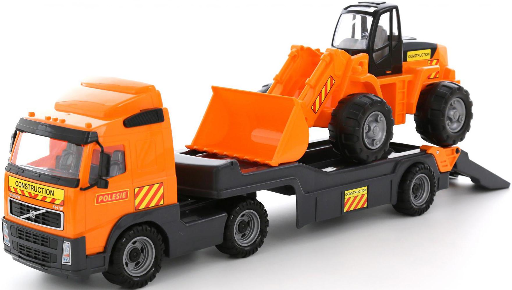 """""""Volvo"""", автомобиль-трейлер + трактор-погрузчик (в сеточке ..."""